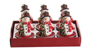 Snowman Table Christmas Candles