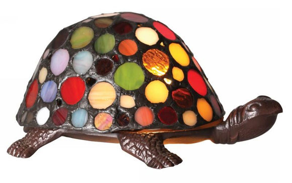 Stained Glass Tiffany Turtle/ Tortoise Table  Lamp
