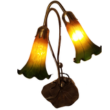 Green and Gold Lily Lamp