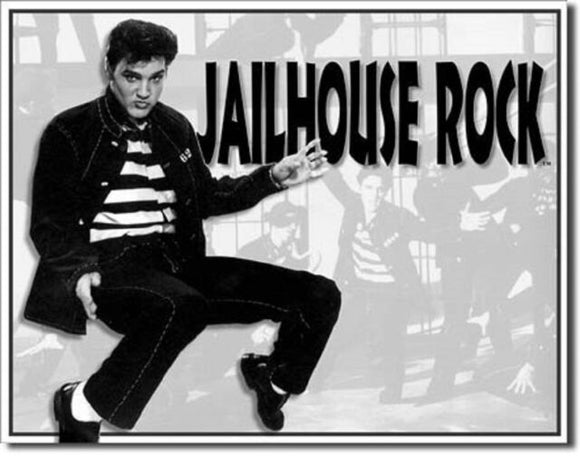 Elvis Presley Jailhouse Rock Tin Sign