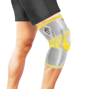 Bracoo KP41 Patent Athletics Knee Compression Sleeve Support with Silicone Patella Brace