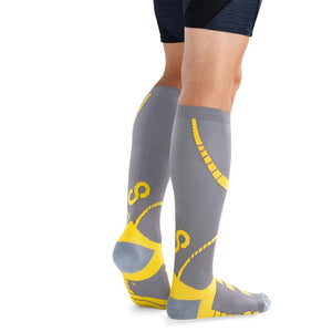BRACOO LS72 ELP Compression Socks(Gray/Yellow)