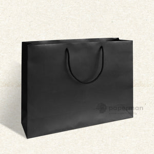 Plain Black Paper Bag (L)