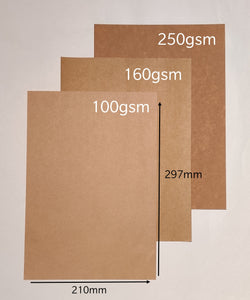 20pcs A4 Premium Brown Kraft Paper [100gsm]