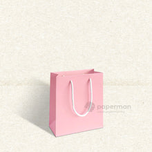 Load image into Gallery viewer, Plain Pink Paper Bag (XS)