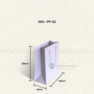 Plain Purple Paper Bag (XS)