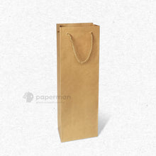 Load image into Gallery viewer, Brown Kraft Wine Paper Bag (Single)