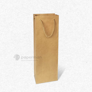 Brown Kraft Wine Paper Bag (Single)