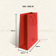 Load image into Gallery viewer, Plain Red Paper Bag (M)