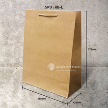 Load image into Gallery viewer, Customize Brown Kraft Paper Bag (Rope) Size L