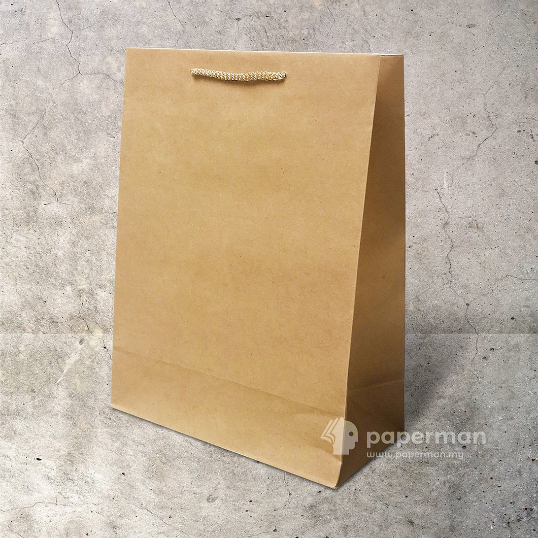 Customize Brown Kraft Paper Bag (Rope) Size L