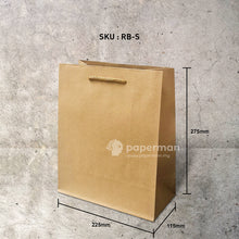 Load image into Gallery viewer, Brown Kraft Paper Bag (Rope) Size S