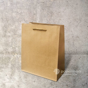Customize Brown Kraft Paper Bag (Rope) Size S