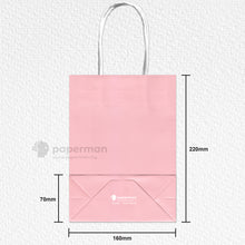 Load image into Gallery viewer, Pink Kraft Paper Bag