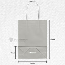 Load image into Gallery viewer, Grey Kraft Paper Bag