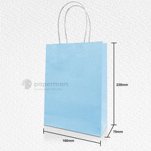 Load image into Gallery viewer, Blue Kraft Paper Bag