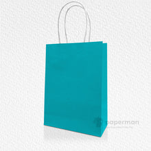 Load image into Gallery viewer, Green Kraft Paper Bag