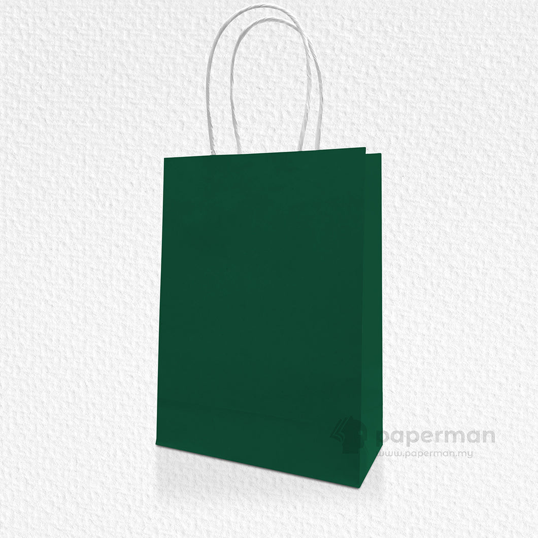 Dark Green Kraft Paper Bag