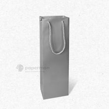 Load image into Gallery viewer, Silver Wine Paper Bag (Single)