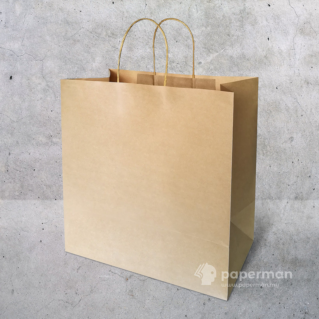 TH01 Brown Kraft Paper Bag (Twisted) Size XL