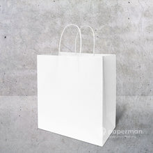 Load image into Gallery viewer, TH03 White Kraft Paper Bag (Twisted) Size M