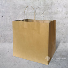 Load image into Gallery viewer, TH04 Brown Kraft Paper Bag (Twisted) Size XL