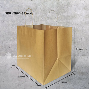 TH04 Brown Kraft Paper Bag (Twisted) Size XL