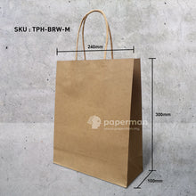 Load image into Gallery viewer, Brown Kraft Paper Bag (Twisted) Size M