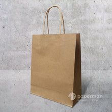 Load image into Gallery viewer, Customize Brown Kraft Paper Bag (Twisted) Size M