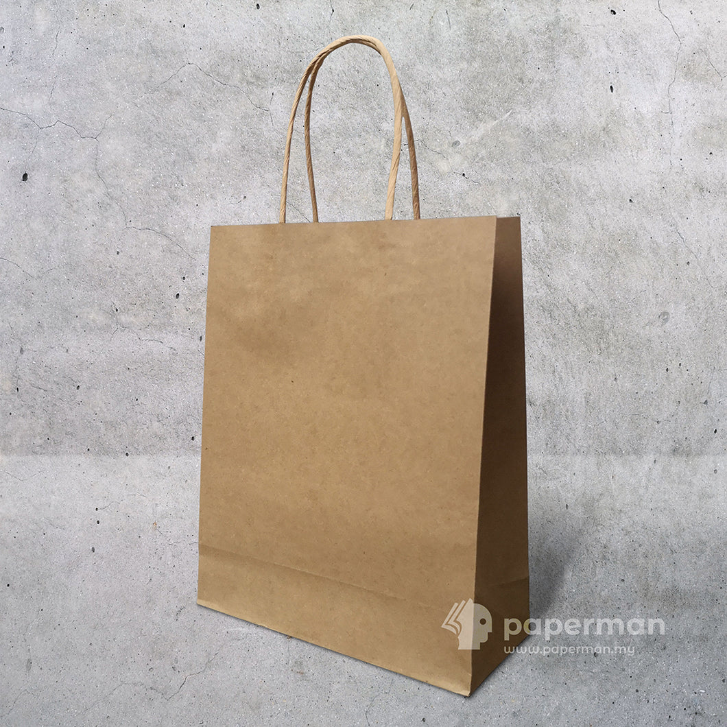 Customize Brown Kraft Paper Bag (Twisted) Size M