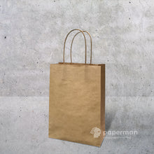 Load image into Gallery viewer, Brown Kraft Paper Bag (Twisted) Size XXS