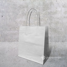 Load image into Gallery viewer, White Kraft Paper Bag (Twisted) Size S