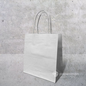 White Kraft Paper Bag (Twisted) Size S