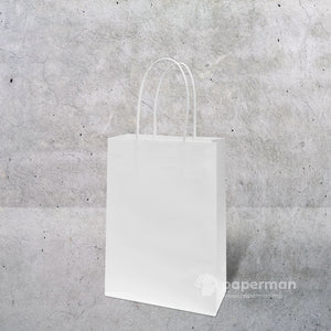 White Kraft Paper Bag (Twisted) Size XXS