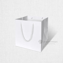 Load image into Gallery viewer, SQ04 Square White Kraft Paper Bag (Rope) Size M
