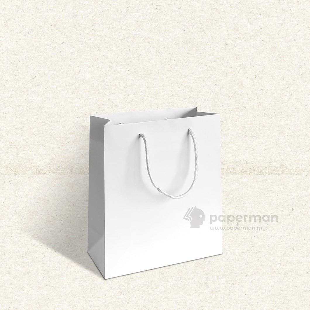 Plain White Paper Bag (S)