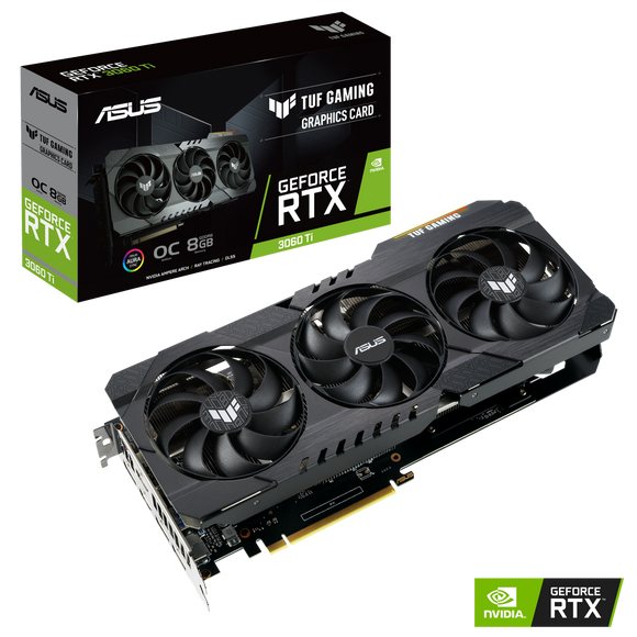 ASUS RTX3060 Ti 8GB TUF OC GAMING Video Card