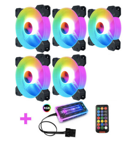 5Pack PC Case Fan RGB 120mm COOLMOON