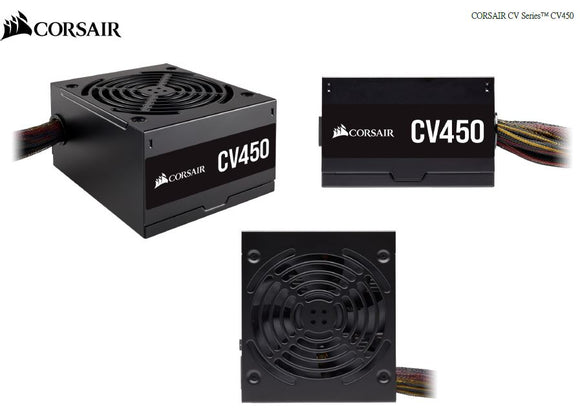 450W CORSAIR CV450 80+ Bronze Certified, Compact design ATX PSU
