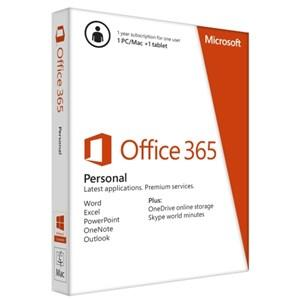 Office 365 Personal PC, Mac, iPad, Windows tablet,Smartphone. / 1YR Online- Microsoft (ESD)