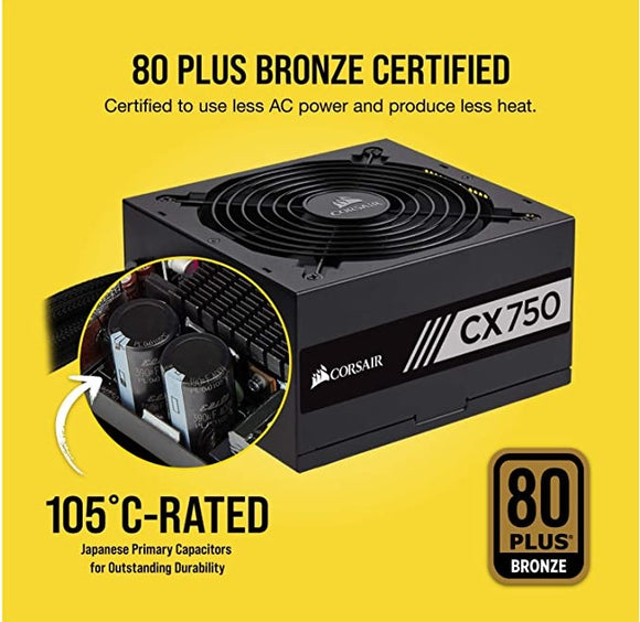 Corsair CX750 750W 80 Plus Bronze PSU