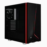 Corsair Carbide SPEC-06 Black with Red Trim Tempered Glass Solid ATX Mid-Tower Case