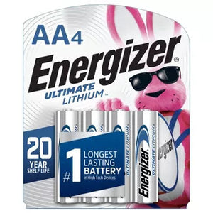 Energizer Lithium AA Batteries - 4 Pack