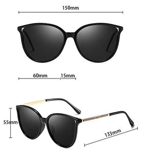 Retro Vintage Cateye Sunglasses for Women Metal Frame Shades