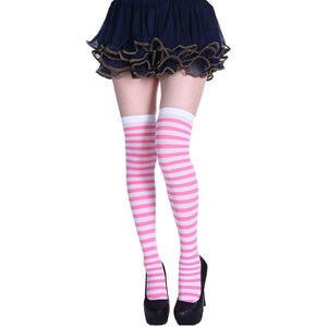 StripeSocks1911-Pink
