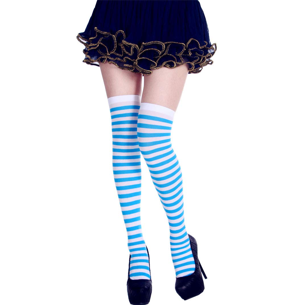 StripeSocks1911-LightBlue