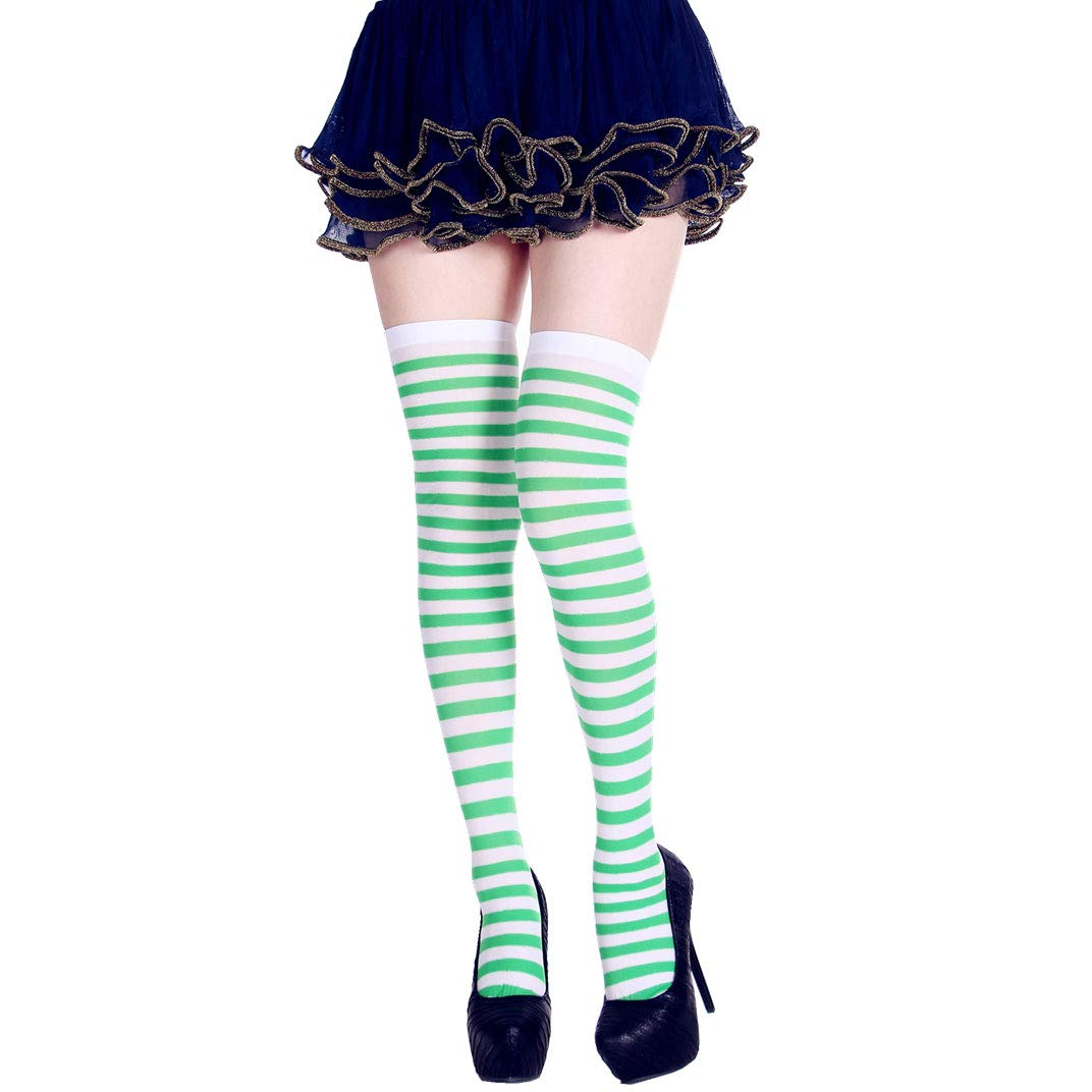 StripeSocks1911-Green