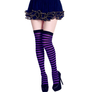 StripeSocks1911-PurpleBlack