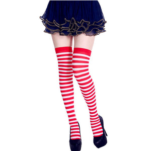 StripeSocks1911-Red