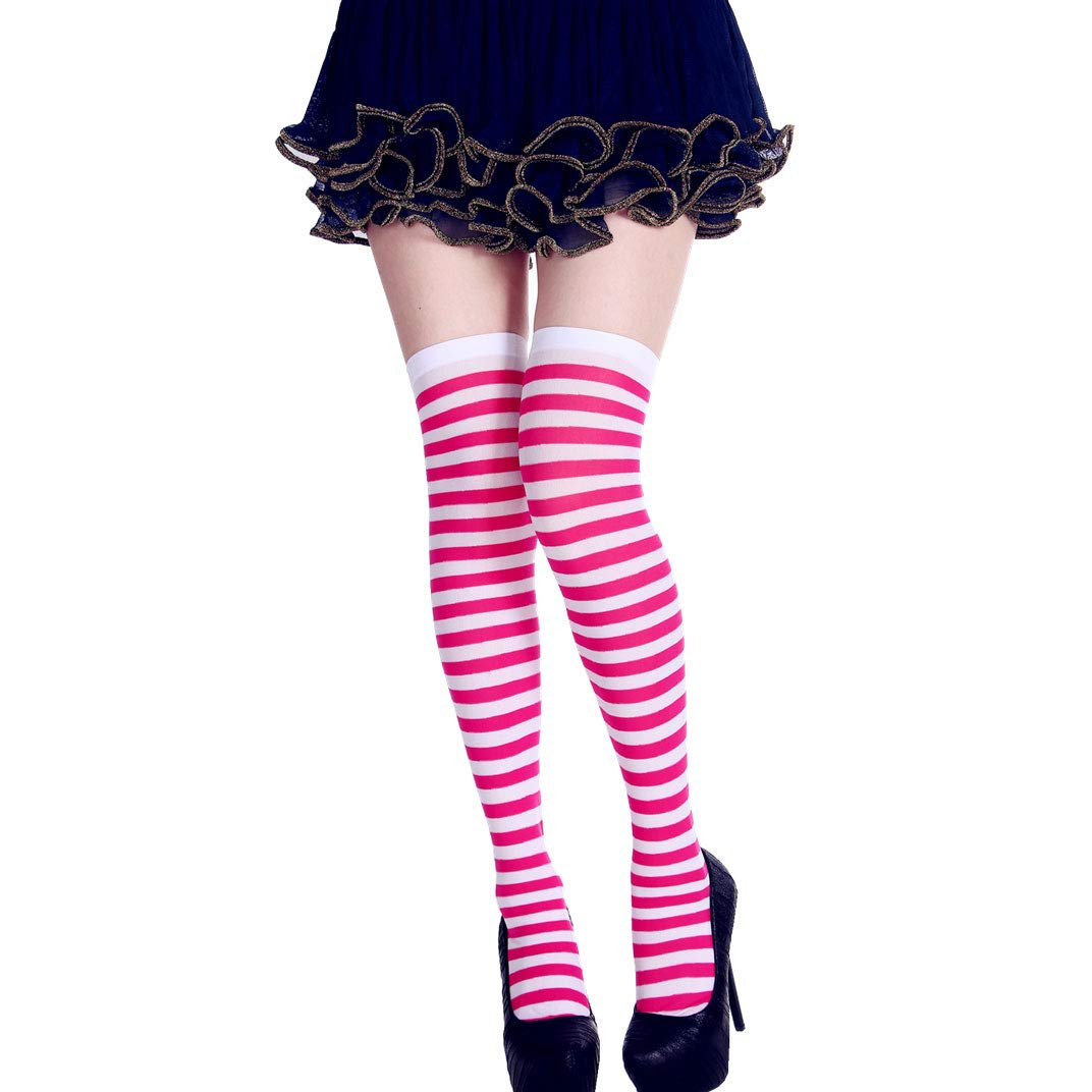 StripeSocks1911-HotPink